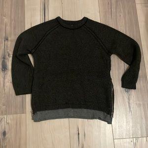 Zara Black Sweater w/ Zip detail
